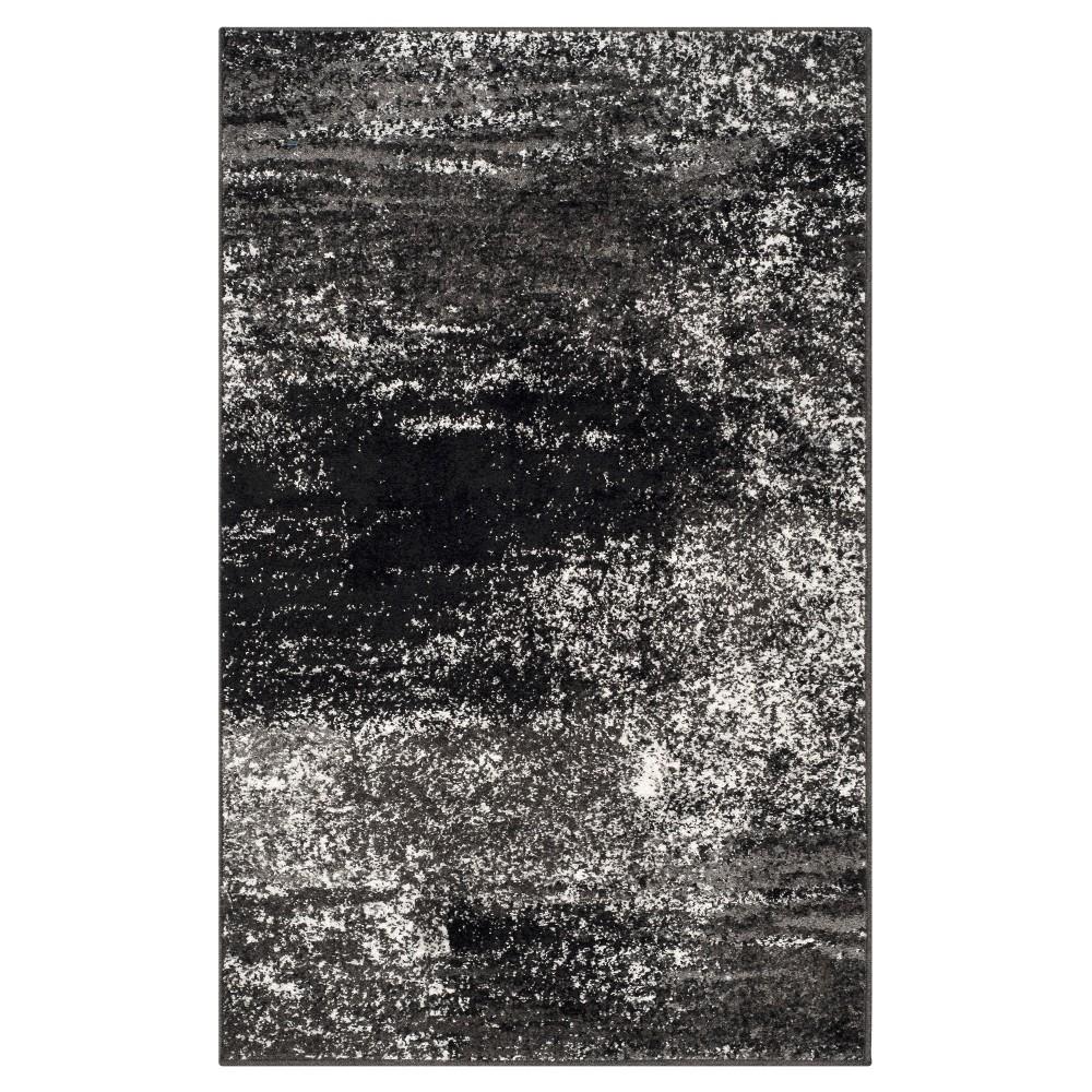 Nykko Accent Rug - Silver/Black (3'x5') - Safavieh