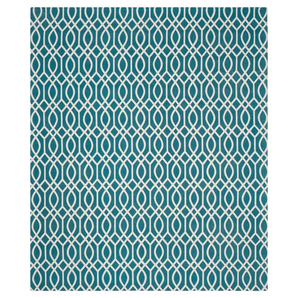 Riggs Area Rug - Teal (Blue) / Ivory (7'3