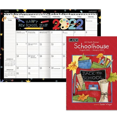 """2022 Monthly Planner 13 Month 8.5""""x12"""" Schoolhouse - Lang"""