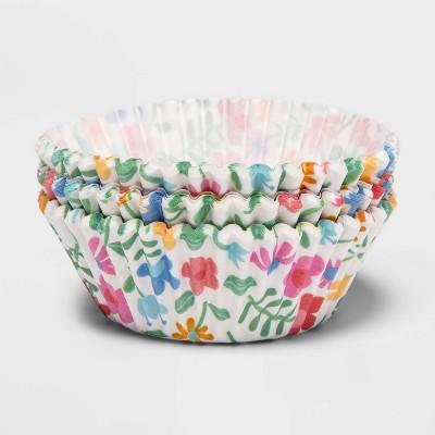 75ct Paper Flowers Baking Cups - Spritz™