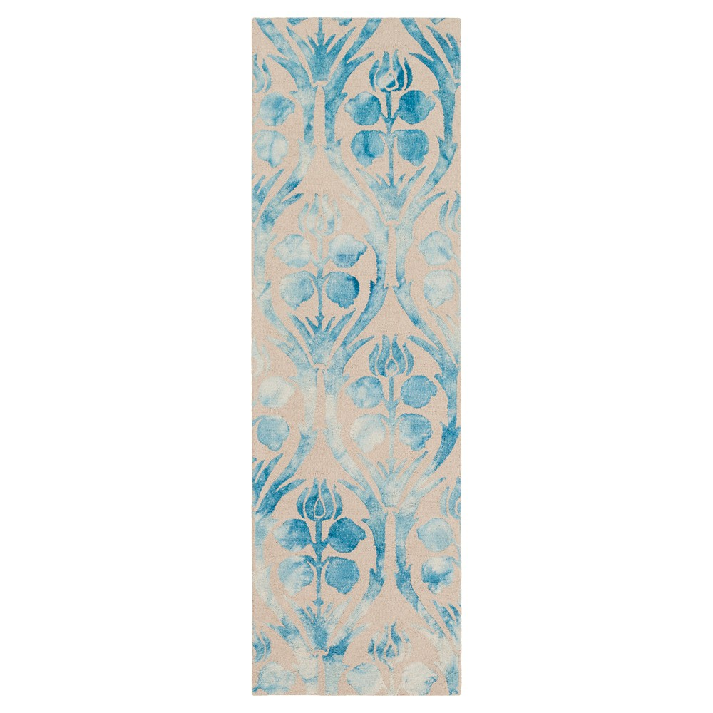 Beige Abstract Hooked Runner - (2'6X8' Runner) - Surya
