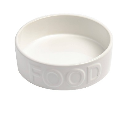 """Park Life Designs Classic Food Dog Bowl 8 Cup - L - White - 8.5"""""""