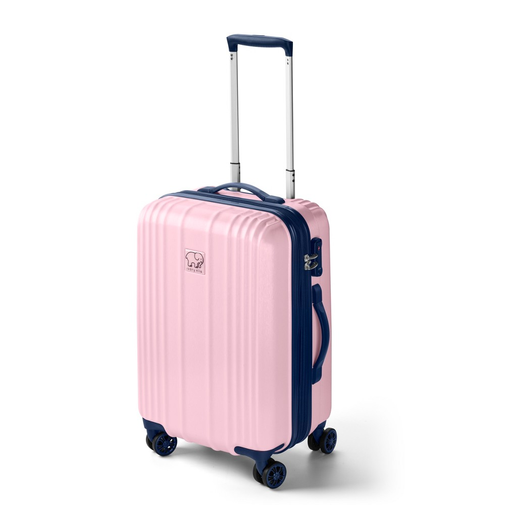 "Image of ""Ivory Ella 20"""" Hardside Suitcase - Pink & Blue, Size: Small, Blue Pink"""