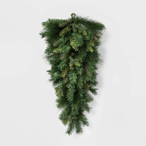 Christmas Swag.36 Unlit Mixed Greenery Artificial Pine Christmas Swag Wondershop