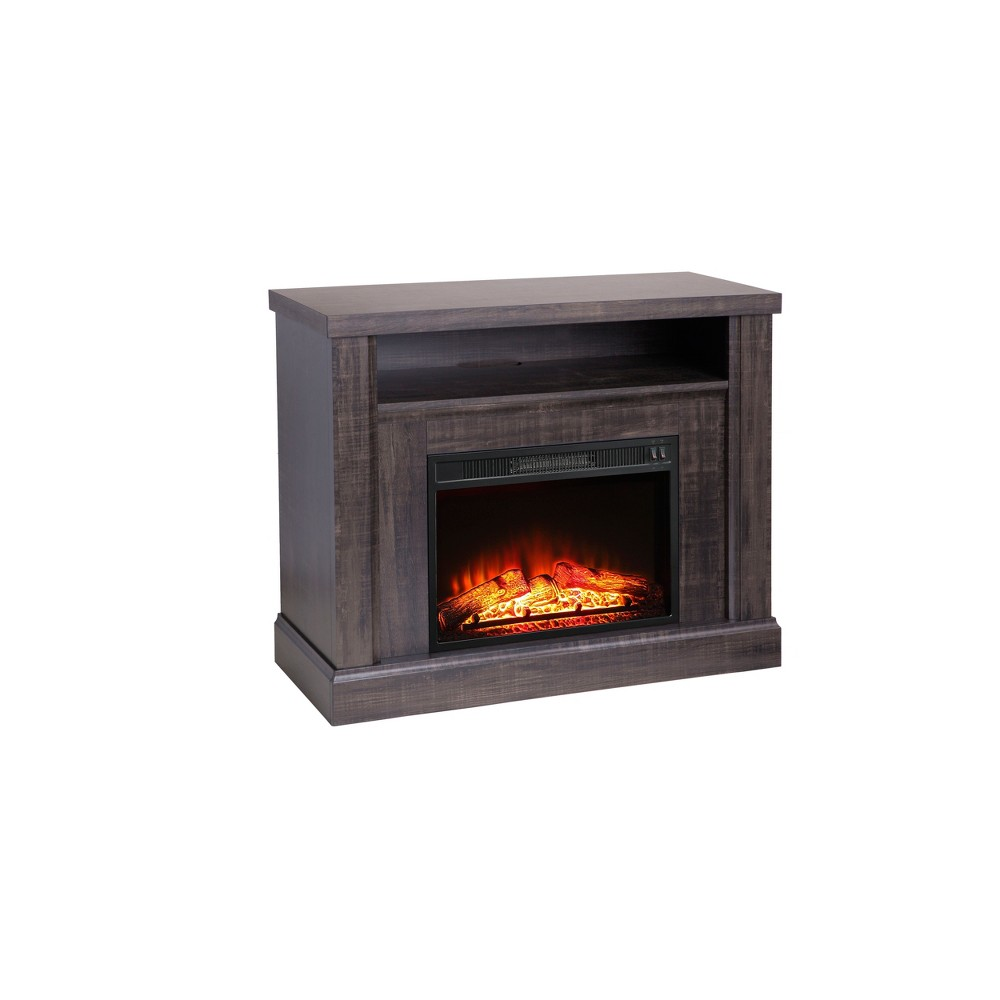 "Image of ""41"""" Fireplace Media Stand Mixed Material Brown - Whalen"""