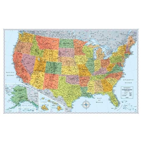 Signature Us Folded Wall Map by Rand McNally - image 1 of 1