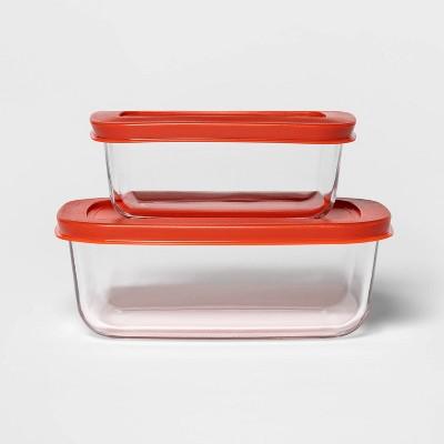 3 Cup & 2 Cup Rectangular Food Storage Container Set - Room Essentials™