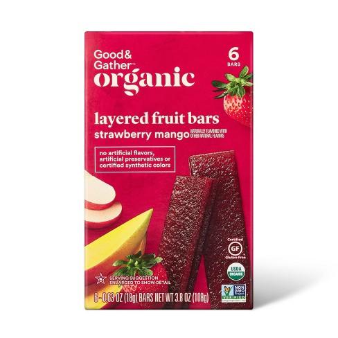 Organic Strawberry Mango Flavored Fruit Bar - 3.8oz/6ct - Good & Gather™ - image 1 of 4