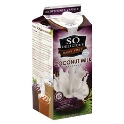 So Delicious Unsweetened Vanilla Coconut Milk - 0.5gal