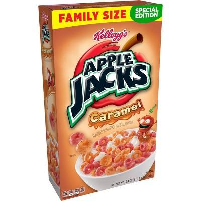 Kellogg's Apple Jacks Caramel Cereal Family Size - 19.4oz