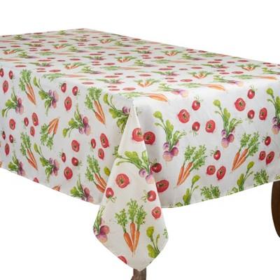 Saro Lifestyle Whimsical Design Tablecloth With Veggies Print