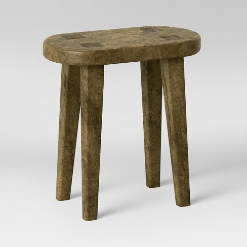 Excellent Woodland Tall Carved Wood Table Brown Threshold Caraccident5 Cool Chair Designs And Ideas Caraccident5Info