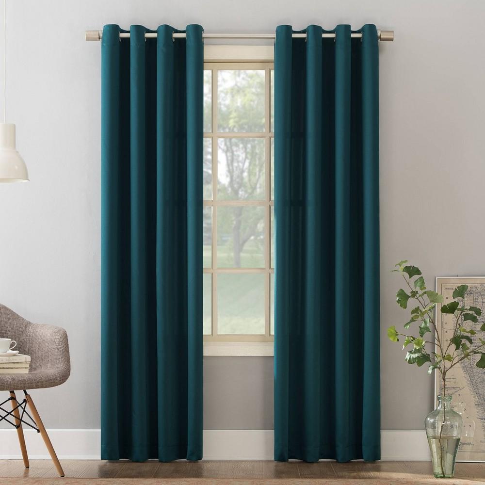 84 34 X54 34 Seymour Grommet Top Room Darkening Window Curtain Panel Teal Sun Zero