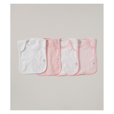 Burt's Bees Baby® Organic Cotton 4pk Lap Shoulder Bibs - Blossom One Size