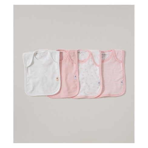 Burt's Bees Baby Organic Cotton 4pk Lap Shoulder Bibs - Blossom One Size - image 1 of 1