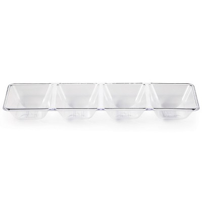 Clear Plastic Divided Serving Tray