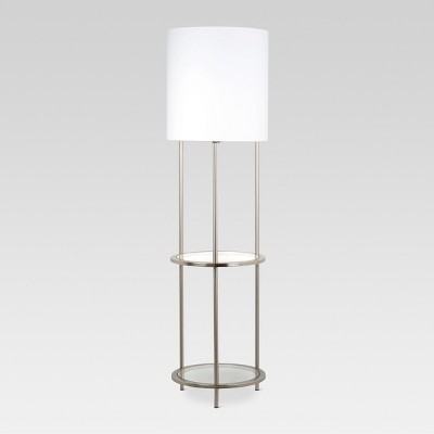 Glass Shelf Floor Lamp Silver Lamp Only - Threshold™