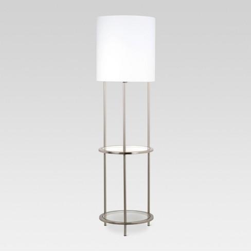 Gl Shelf Floor Lamp Silver