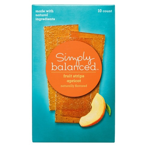 Apricot Fruit Strips 10ct - Simply Balanced™ - image 1 of 3