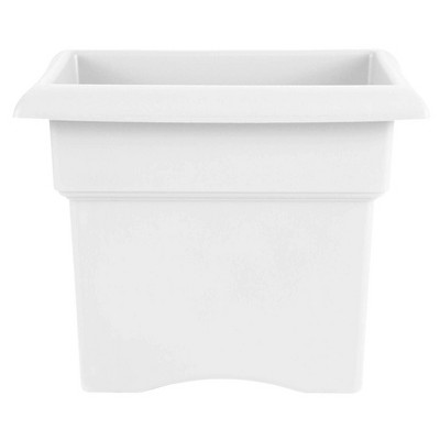 "18"" Veranda Deck Box Square Planter White - Bloem"
