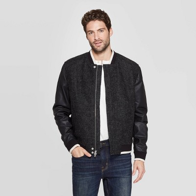 Men's Standard Fit Bomber Jacket   Goodfellow & Co™ Charcoal by Goodfellow & Co