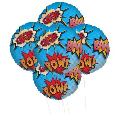 Birthday Express Superhero Party Foil Balloon Kit - 5 Pack