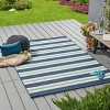 5' x 8' Ronan Geometric Outdoor Rug Blue/Ivory - Christopher Knight Home - image 3 of 4