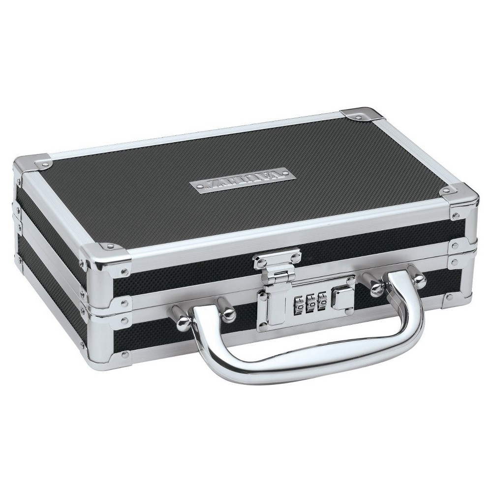 Vaultz Locking Medicine Case - Black, Black/Silver
