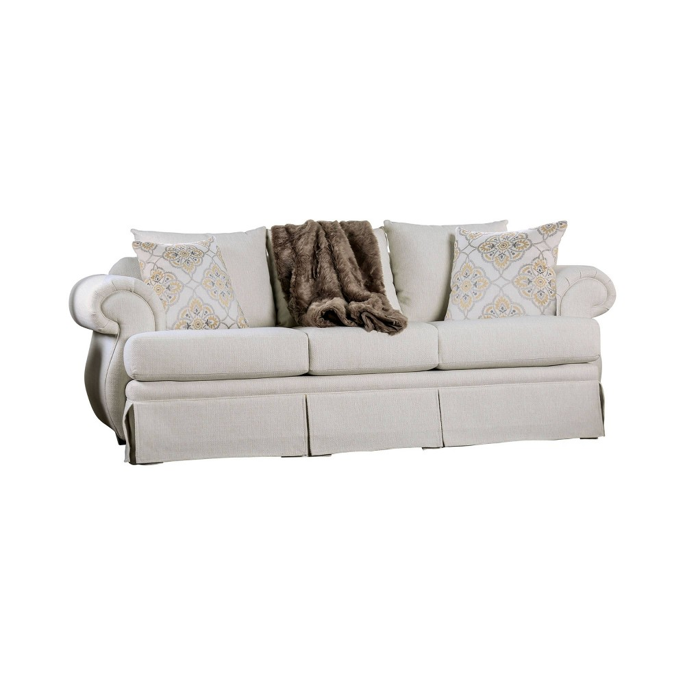 Capistrano T Cushion Sofa Ivory - Sun & Pine