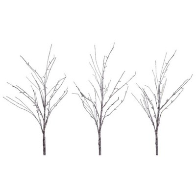 Melrose 3ct Prelit LED Artificial Snow-Covered Branches 5' - Clear Lights