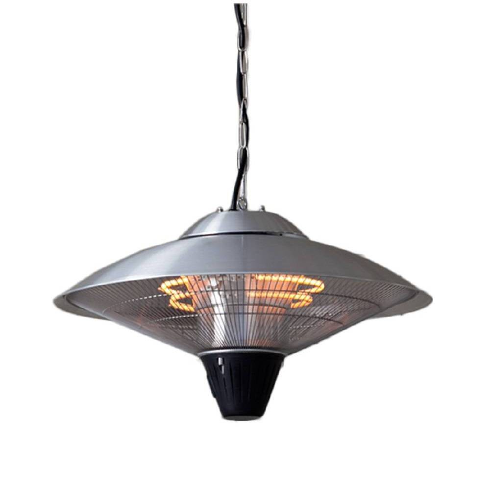 Image of Aluminum Electric Hanging Heater Lamp - Stainless Steel - AZ Patio Heaters, Silver