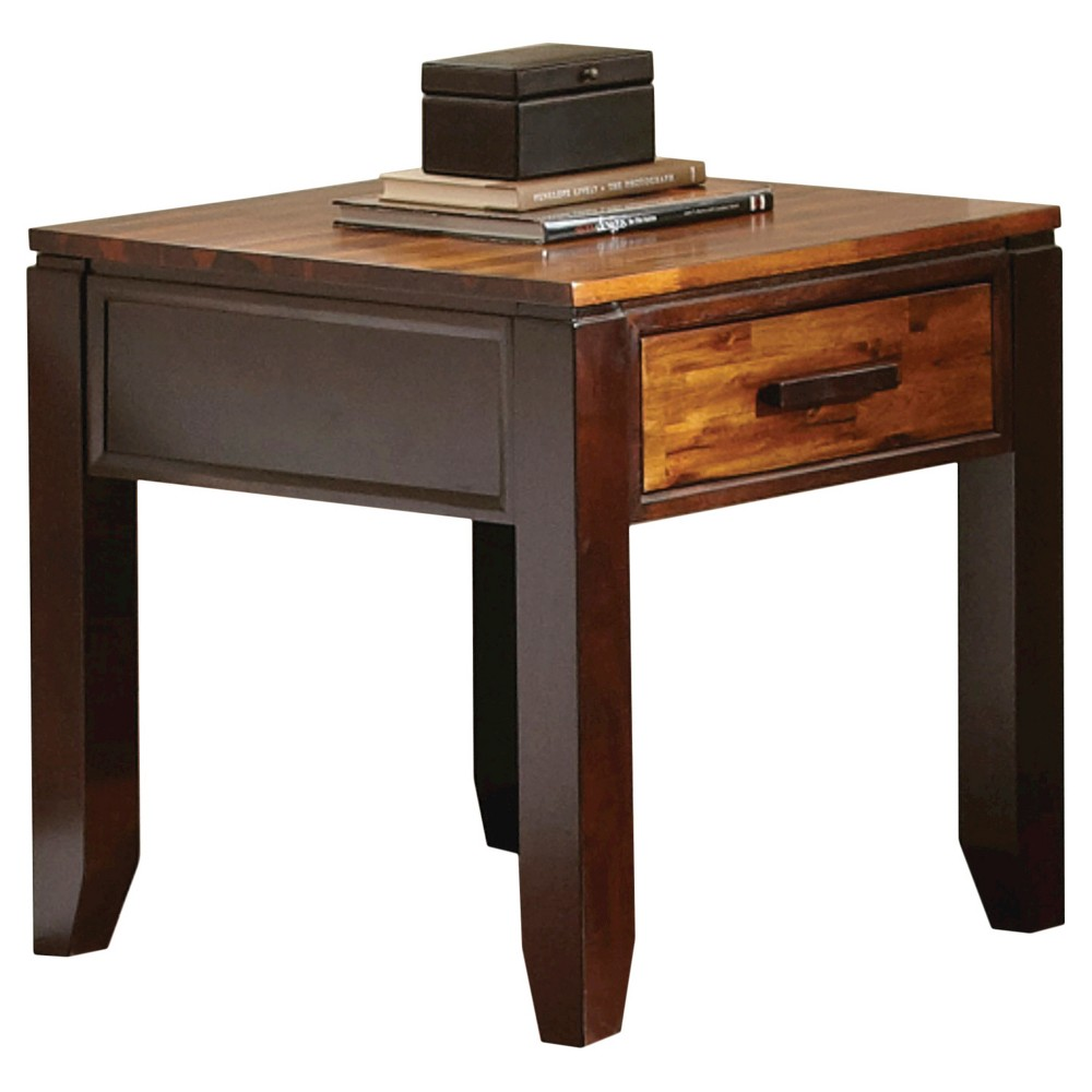 Abaco End Table Two Tone - Steve Silver, Brown