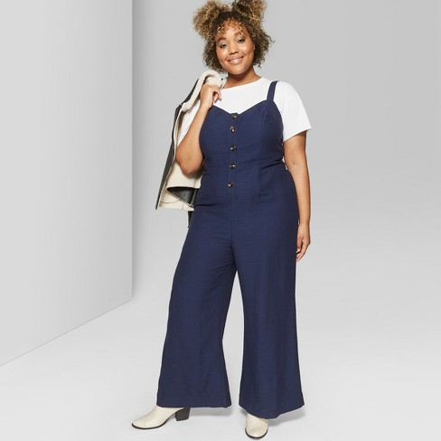 4c05f26afb6 Women s Plus Size Strappy Button Front Tie Back Jumpsuit. Shop all Wild  Fable™