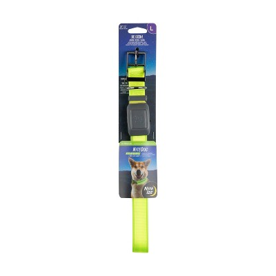 Nite Ize Nite Dog Rechargeable LED Dog Collar - L - Lime/Green