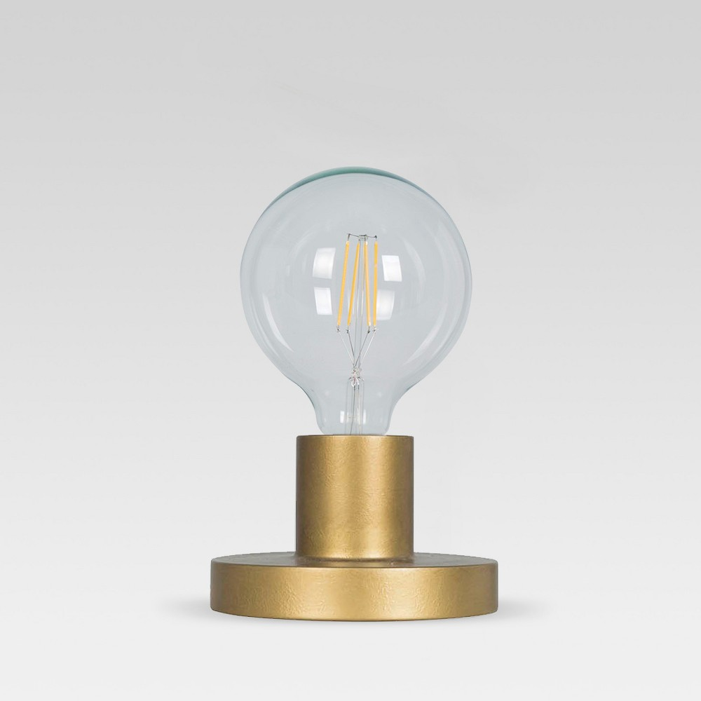 Industrial Metal Sconce / Sit Lamp Gold (Includes Energy Efficient Light Bulb) - Project 62 + Leanne Ford