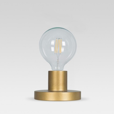 Industrial Metal Sconce / Sit Lamp Gold (Includes Energy Efficient Light Bulb) - Project 62™ + Leanne Ford - image 1 of 5