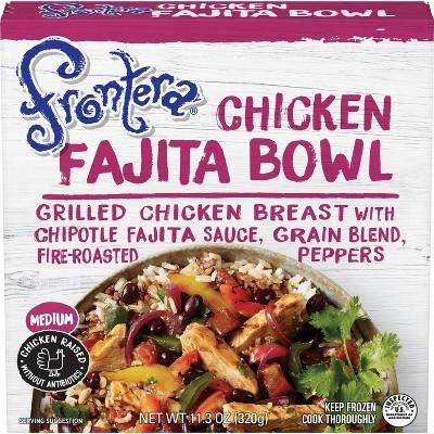 Frontera Grilled Chicken Frozen Fajita Bowl - 11.3oz