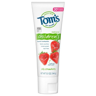 Tom's of Maine Silly Strawberry Children's Anticavity Toothpaste - 5.1oz