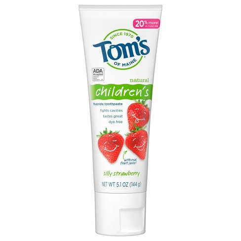 Tom's of Maine Silly Strawberry Children's Anticavity Toothpaste - 5.1oz - image 1 of 4