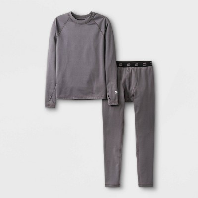 Boys' 2pk Thermal Set Underwear - All in Motion™ Dark Gray