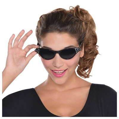 Adult 50S Cat Eyes Glasses Accessory Halloween Costume