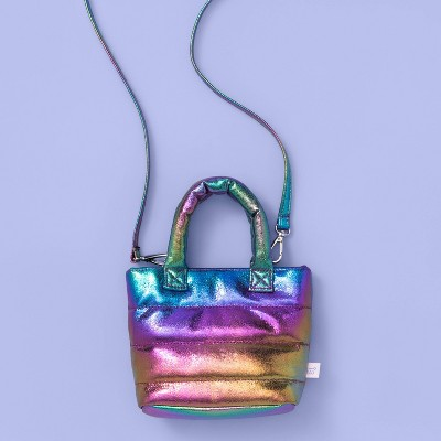Girls' Puffy Quilted Rainbow Crossbody Bag - More Than Magic™