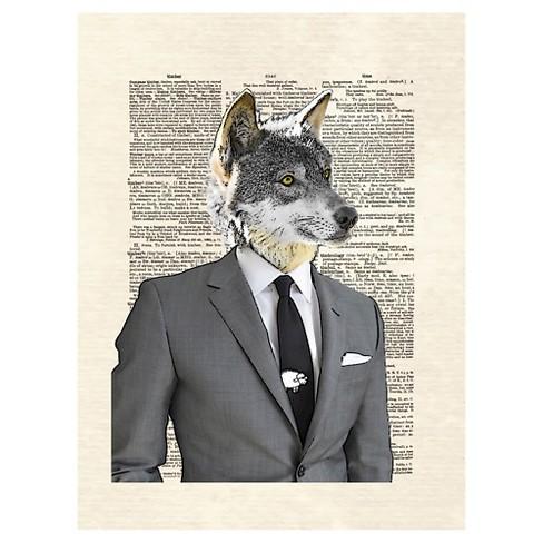 Wolf Of Wall Street by Matt Dinniman Unframed Wall Art Print : Target