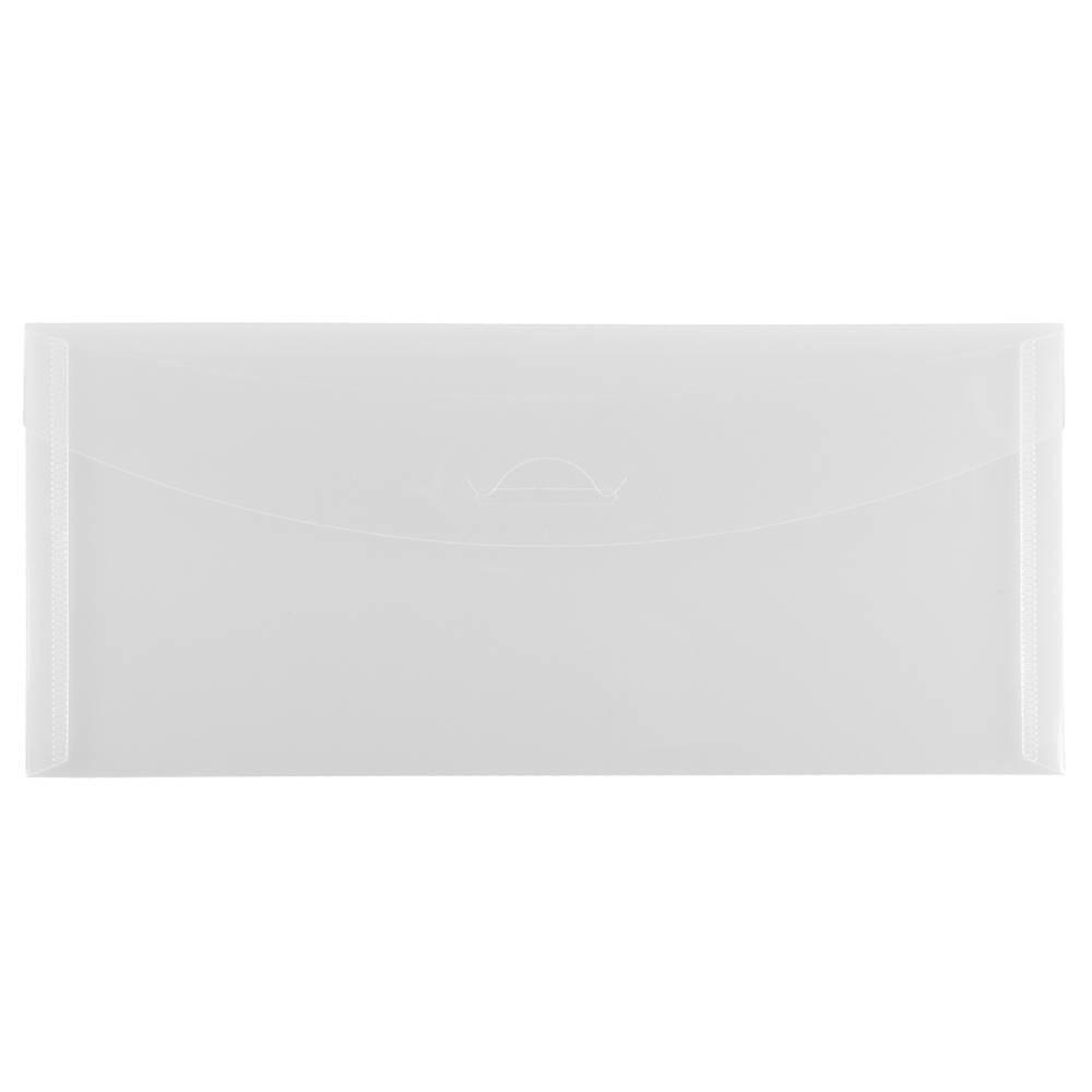 Jam Paper 4 1/4'' x 9 3/4'' 12pk Plastic Envelopes with Tuck Flap Closure - Clear Jam Paper 4 1/4'' x 9 3/4'' 12pk Plastic Envelopes with Tuck Flap Closure - Clear
