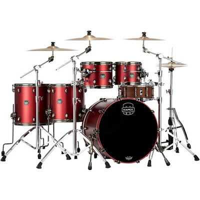 Mapex Saturn Evolution Workhorse Birch 5-Piece Shell Pack with 22 in. Bass Drum Tuscan Red