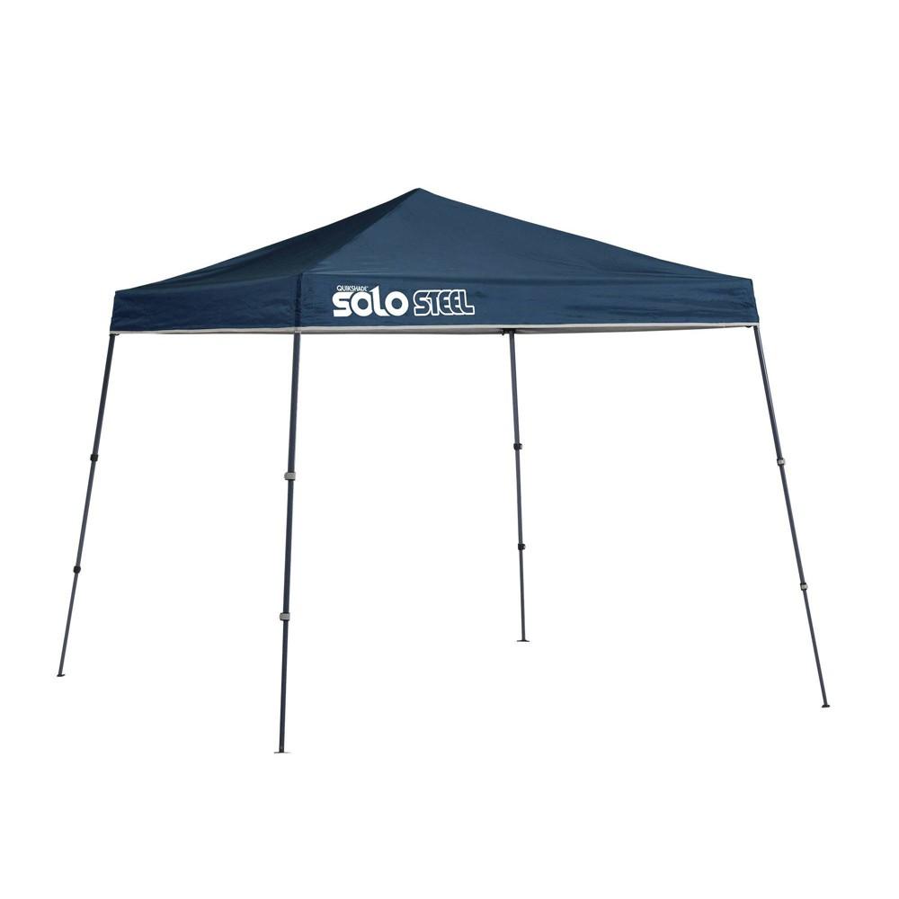 Image of Quik Shade Solo Steel 9x9 Slant Leg Canopy - Blue
