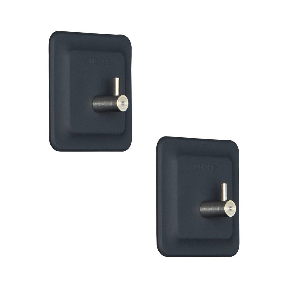 Image of 2pk Arnold Reusable Hook Gray - Tooletries