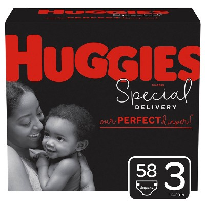 Huggies Special Delivery Hypoallergenic Diapers Super Pack - Size 3 (58ct)
