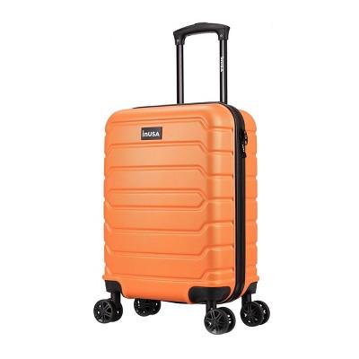 "InUSA Trend 20"" Lightweight Hardside Carry On Spinner Suitcase - Orange"