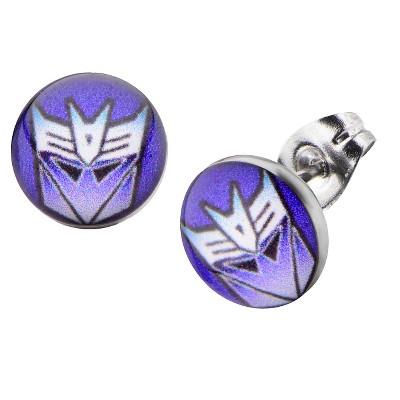 Women's Hasbro Transformers Decepticon Graphic Stainless Steel Stud Earrings